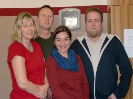 von links nach rechts: Silvia Wiechmann, Detlef Reckling, Kathrin Schmidt, Thonas Wiegandt